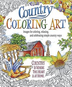 Country Coloring Art, a collection of intricate designs featuring country themes and inspirational quotes, providing hours of creativity. Easy to remove when finished with perforated pages and space to add a signature and date on the reverse side. Quote Coloring Pages, Adult Coloring Book Pages, Colouring Pages, Coloring Sheets, Coloring Books, Free Adult Coloring, Oriental Trading, Digital Stamps, Christmas Colors