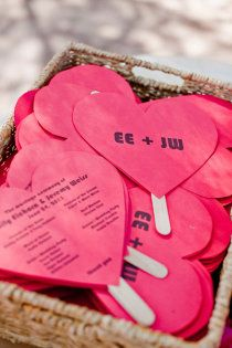 bright heart #wedding programs