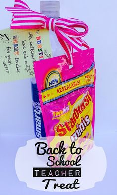 Back to School Teacher Treat  with FREE Printable Tags. From Marci Coombs Blog