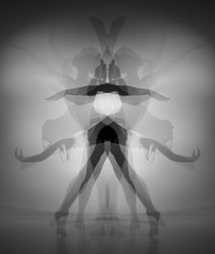 I like this long exposure photograph I have taken in the studio of the dancer. I have taken the photo by using multiple flashes and a longer shutter speed. I then put the photo into Photoshop and copied the layer, flipped it horizontally and made the image black and white. I think, personally, the image turned out really well and I will try this for my other photographs.