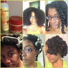 After shampoo/condition, I sprayed Cream of Nature Strength & Shine Leave-in Conditioner then #twostrandtwists with Creme Of Nature Pudding Perfection. I had ballet mom duties so I placed my #twists in a satin cap & shoved it under a baseball cap. Later that night I sprayed a lil more of the leave-in and used the flexi-rods (my second attempt at trying these). I slept in a satin cap. The next day I took out rods & twists very carefully with the tiniest amount of product (just some stuff I…