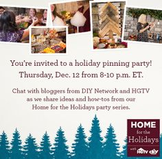 Let's Party! Join Our #Holiday Pinning Party Tonight (http://blog.hgtv.com/design/2013/12/12/lets-party-join-our-holiday-pinning-party-tonight/?soc=pinterest)