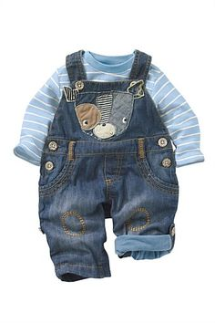 Age 6-9 Months Less Expensive Mothercare Dungarees Energetic Baby Boys Clothes