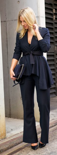 Flares And Pinstripes Outfit Idea