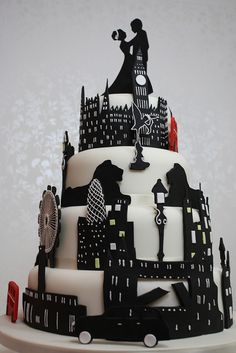 London Love Wedding Cake by Cakes4Fun