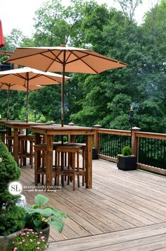 #DIY outdoor #party #deck #decor