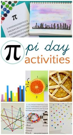 Creative pi day activities for kids. Fun math art ideas suitable for at home or classroom learning. Math Activities For Kids, Math For Kids, Fun Math, Classroom Activities, Kids Fun, Classroom Ideas, Math Classroom, Math Resources, Pie Day Activities