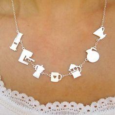 Meet Your Coffee Maker Silver Necklace - I have, at some point in my life, made coffee in each one of these...