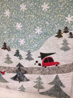 Michigan Tree Farms:  a Round Robin Christmas Quilt by Carol   Just Quilts   funoldhag