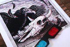 Texan Gothic Brad Albright Art Print & 3D Glasses on Etsy