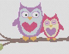 owl in cross stitch - Pesquisa Google