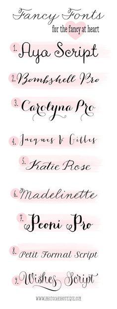 Fonts that would make great script tats