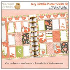 Foxy Printable Planner Kit January stickers by DigiScrapDelights #plannerlove #plannerstickers #planneraddict #foxy #printable #january