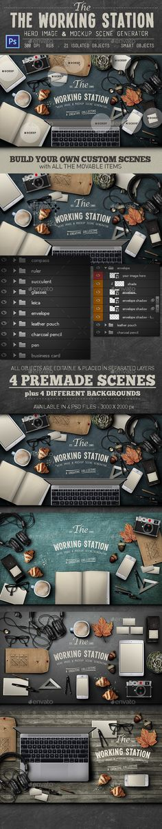 Working Station Hero Image is a mockup psd template for hero images scene generator created by KlapauciusCo. Web Design, Graphic Design Tips, Simple Resume Template, Creative Resume Templates, Image Hero, Portfolio Resume, Mockup Photoshop, Twitter Backgrounds, Header Image