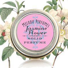 Jasmine Flower essential oil natural solid perfume.