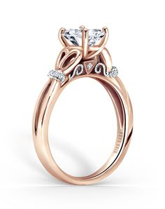 Halo Engagement Ring | Kirk Kara  K274LWR | http://trib.al/7UwheUg