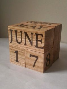 Check out this item in my Etsy shop https://www.etsy.com/listing/192808956/oak-perpetual-wood-calendar-unique