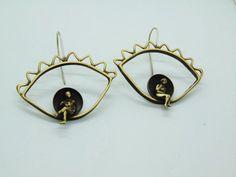 Eye Earrings, Evil Eye Jewelry, Eye Jewelry, Minimalist Earrings, People Jewelry, Modern Earrings, Boho Jewelry, Boho Earrings, Gift For Her