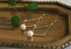 淡水パールのシンプルピアス|perle