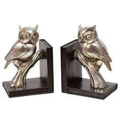 I pinned this Owl Bookend - Set of 2 from the Adra Designs event at Joss and Main!