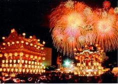 Luxurious and gorgeous! Kasaboko with fireworks, Chichibu night festival