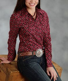 Take a look at this Red Rosehip Button-Up - Women & Plus by Roper on #zulily today!