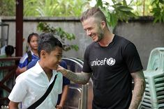 Beckham meets Cambodian children saved from sexual and emotional abuse #dailymail