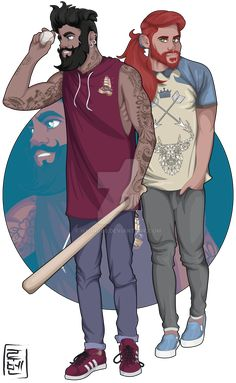 Disney University - Erling and Sealgair from the Southern Isles by Hyung86.deviantart.com on @DeviantArt  Erling and Sealgair have finished his college career. Erling works as a tattoo artist in the city and help in coaching college baseball team. Sealgair is graphic designer and computer engineer. He loves knowing things about deepweb to become a true hacker. (his favorite series is Mr Robot!) Sealgair continually faces Bambi for the love of Faline. She still has not decided yet;)