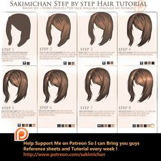 Hair Turorial by sakimichan.deviantart.com on @DeviantArt