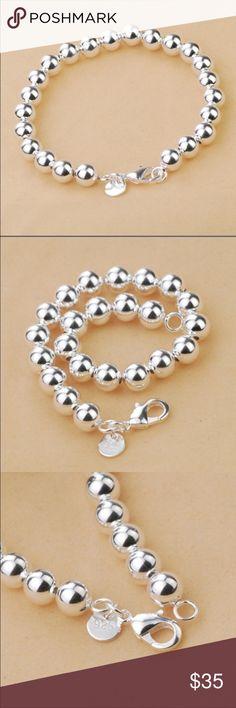 "Sterling silver ""pearl"" bracelet Dainty and classy. Sterling silver. Absolutely beautiful. Jewelry Bracelets"