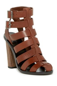 b82ea5688 Nicolette Chunky Heel Sandals with jeans and a white tee for a… Felicia Hunt