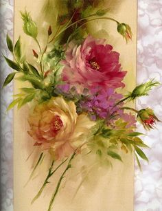Religious Magic And Spiritual Ability Element One Img-Fotki. Oil Painting Flowers, China Painting, Watercolor Paintings, Arte Floral, Botanical Prints, Floral Prints, Art Prints, Gary Jenkins, Decoupage