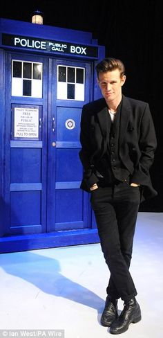 Matt Smith, star of Doctor Who, is seen at the BBC TV Centre in London---this is like my favorite pic of Matt Smith ever