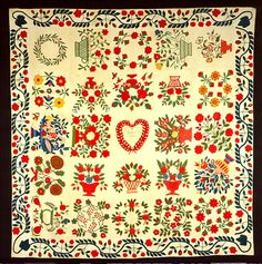 color ca. 1850   Barbara Brackman's MATERIAL CULTURE: Quilts at the DAR Museum