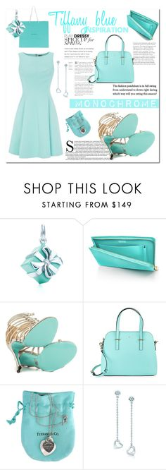 """""""Tiffany blue inspo"""" by rachelbarkhodesigns ❤ liked on Polyvore featuring Tiffany & Co., Betsey Johnson and Kate Spade"""