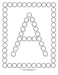 Alphabet Find and Dab Alphabet Worksheets, Alphabet Activities, Toddler Activities, Preschool Activities, Preschool Curriculum, Preschool Lessons, Kindergarten Worksheets, Preschool Fine Motor Skills, Preschool Classroom