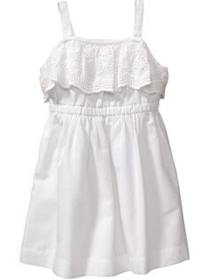 Eyelet-Trim Sundresses for Baby