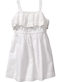 Eyelet-Trim Sundresses for Baby