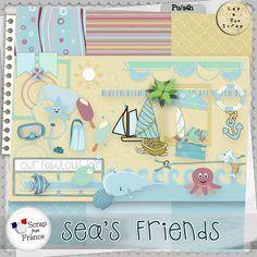 Kit Sea's Friends par LeaUgoScrap Exclu SFF