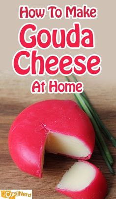 Our Gouda Cheese Recipe will guide you, step by step, to make a great textured and tasting homemade cheese. All about Gouda. Goat Milk Recipes, No Dairy Recipes, Cooking Recipes, How To Make Cheese, Food To Make, Making Cheese, Gouda Cheese Recipes, Gouda Recipe, Fromage Vegan
