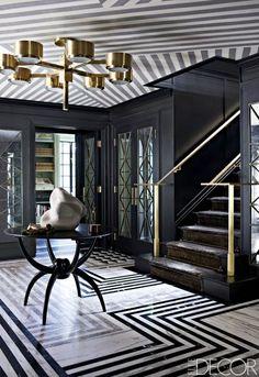 Art deco design pattern home decor Ideas for 2019 Black Room Design, Black Interior Design, Casa Art Deco, Black Rooms, Modern Art Deco, Art Deco Lighting, Design Blog, Design Art, Design Trends