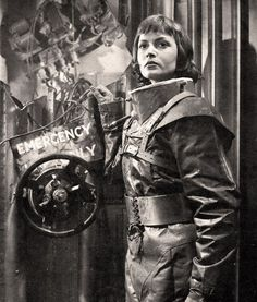 "Lisa Frank (Eva Bartok) takes the place of an astronaut aboard the first mission into space in the 1953 movie ""Spaceways"""