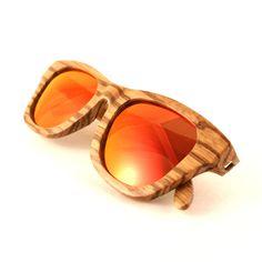Flourish red polarized zebra wood sunglasses from Thrive Shades.