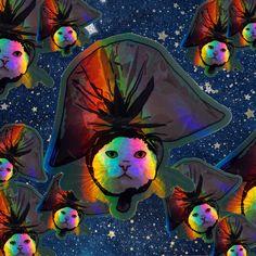 I'm the Trash Man Cat Holographic Sticker funny meme trash bag water resistant vinyl