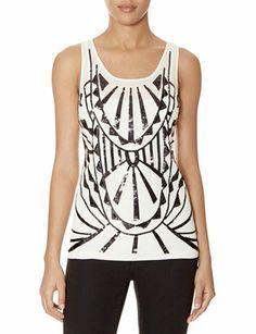 Patterned Sequin Tank from THELIMITED.com #ItsTime #TheLimited