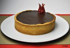 Recipe: Chocolate chiboust cake with chocolate ganache cover.