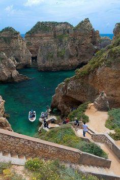 Ponta de Piedad near Lagos, Algarve Coast, Portugal. Need to see Portugal. Places Around The World, Travel Around The World, Oh The Places You'll Go, Places To Travel, Travel Destinations, Places To Visit, Around The Worlds, Portugal Travel, Spain And Portugal