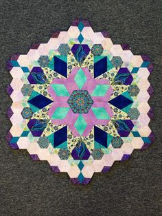 Katja Marek's The New Hexagon - Millefiore Quilt-Along: Rosette 1: Complete! By Tracy Pierceall, 1/28/2015