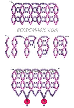 Free pattern for necklace Black Net - 2 ---------------u need 2 colors of seed beads 11/0 and pearls 6 or 4.