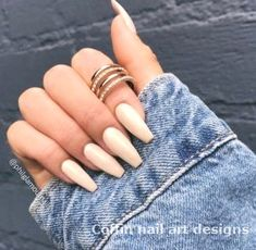 Beige Nägel Must Try Beige Nails Beige Nails + # beige . Cute Acrylic Nails, Acrylic Nail Designs, Nude Nails, Coffin Nails, Ongles Beiges, Hair And Nails, My Nails, Fancy Nails, Nagel Gel